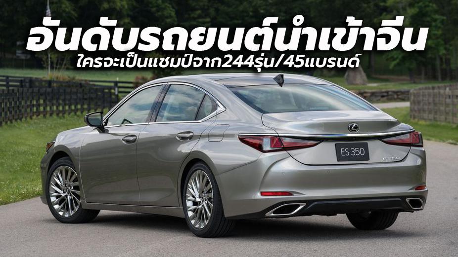 China Car Imports June 2020