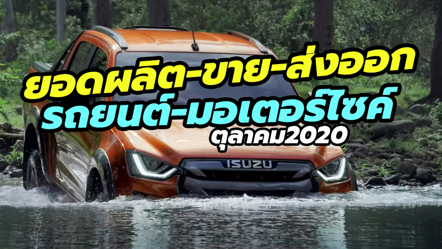 Thailand car sales october 2020